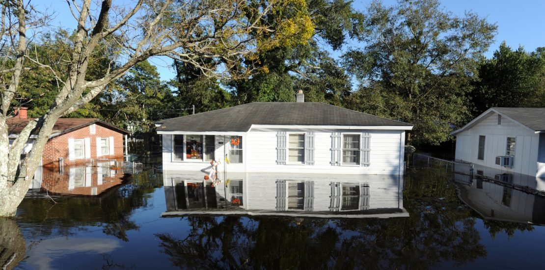 Lumberton, NC, USA--October 12, 2016--Flood waters remain high in neighbrohoods impacted by Hurricane Matthew. (Jocelyn Augustino/FEMA)